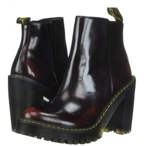 New Dr. Martens Magdalena Cherry Red Boots 8